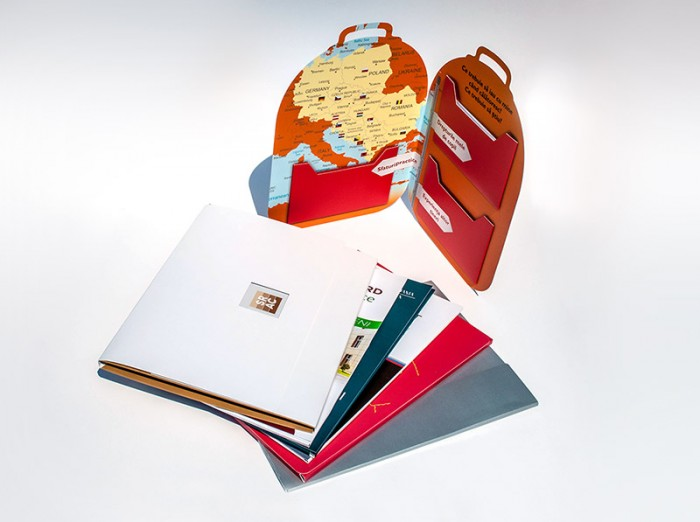 Folders with various finishing techniques