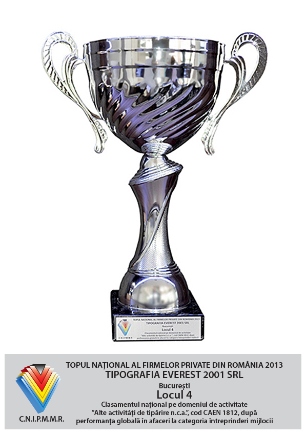 4th Position in National Top of Private Comanies from Romania - Global Performance in Business