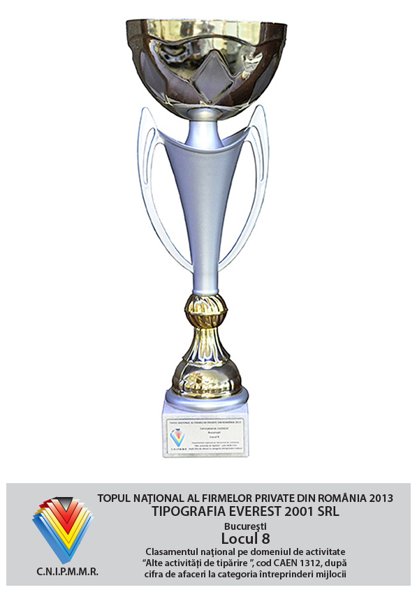 8th Position in National Top of Private Companies from Romania - Turnover