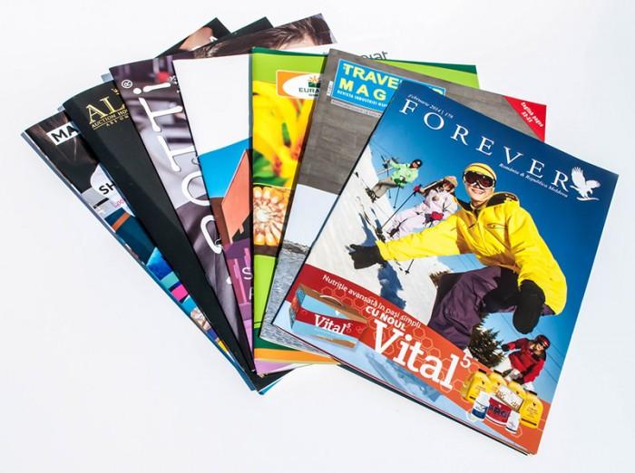 Stapled magazines