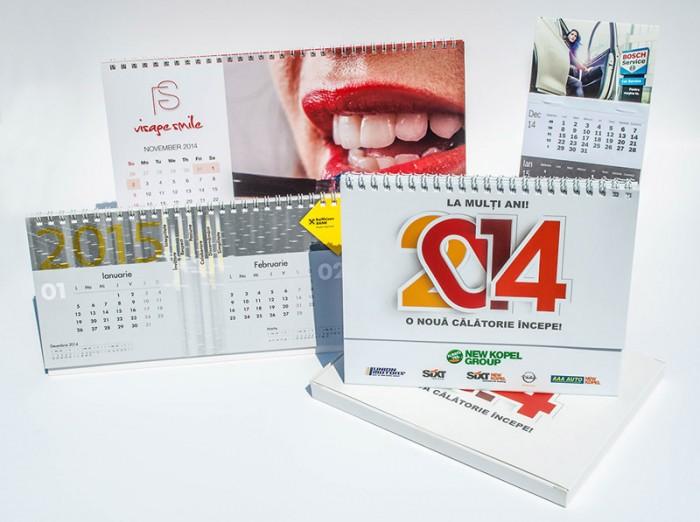 Desk flip calendars