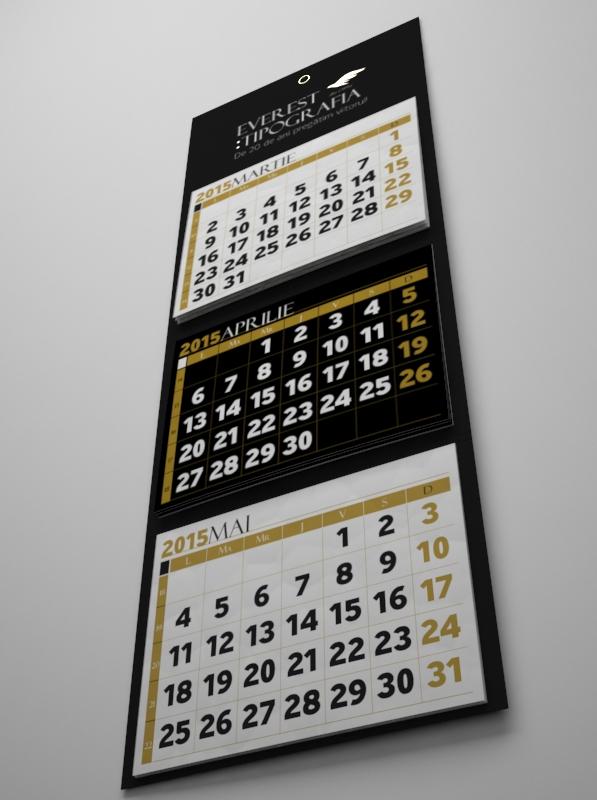 Triptych calendar